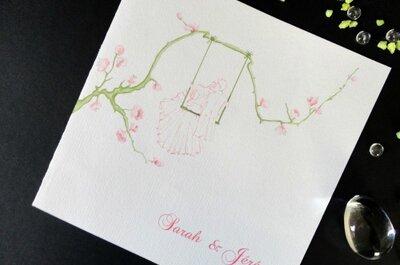 Personnalisation de vos faire-part de mariage, menu et plan de table avec Vinnylu Création