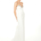 Vestido de novia 2013 con brocado en el escote y cola pequeña