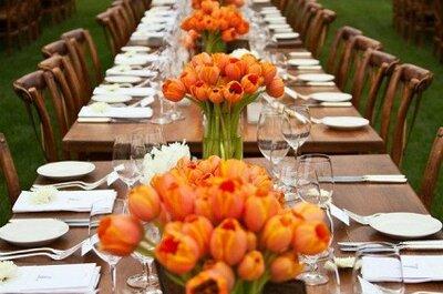 Inspiração: flores e pormenores para o centro das mesas