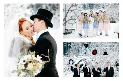 Love me! An Alice in Wonderland inspired winter wedding