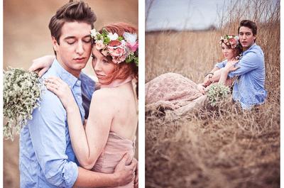 Lleva lo mejor del estilo shabby chic a tu sesión de fotos pre boda 2014