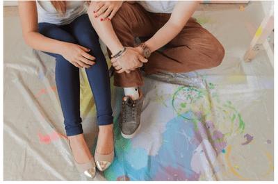 Brochazos color pastel: Una sesión de fotos pre boda artística y envuelta de amor
