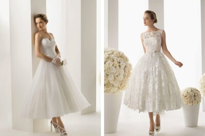 Já pensou escolher um vestido de noiva curto? Veja os vestidos da nova colecção!