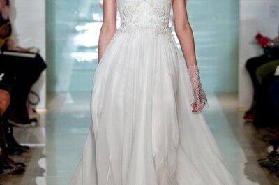 Clásica y sexy en chifón: Vestidos de novia primavera 2015 de Reem Acra