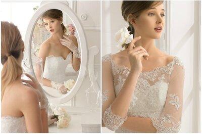 Decotes incríveis para noivas estilosas: diretamente da coleção Rosa Clará 2015