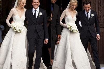 Vestidos y bodas famosas del 2012