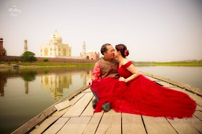 Red signifies the color of love and the beauty of the bride!