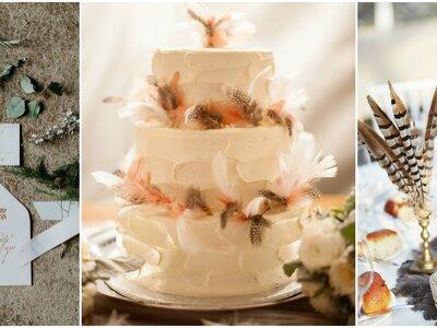 Cómo decorar una boda con plumas, el detalle must de las bodas 2016 más trendy