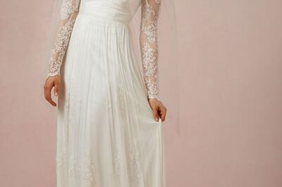 Vestidos de novia románticos tendencias 2014