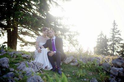 Marion&Bertrand: Französische Hochzeit in Lila & Weiß!