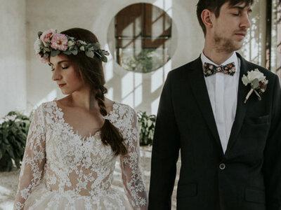 Sesja ślubna Oli i Jaśka w Ogródzie Romantycznym Heleny Radziwiłłowej w Arkadii! Zapraszamy!