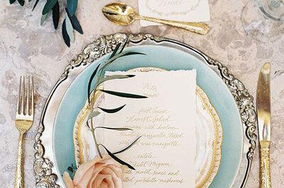 La importancia de una bonita vajilla en las mesas de tu boda