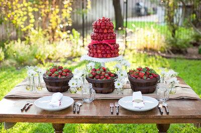5 idées délicieuses et comestibles pour les centre de table de votre mariage