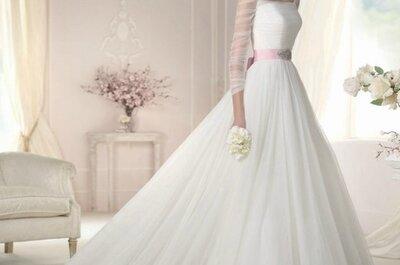 La delicadeza y elegancia de los vestidos de novia de Galerías Londres