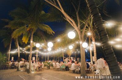 6 ideas mágicas para iluminar una boda de noche
