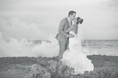 Moonlight and Sea: Jackeline + Christopher's Wedding in the Caribbean