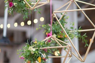 Яркая геометрическая свадьба