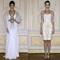 Vestidos de fiesta e color blanco con detalles en color oro con inspiración en dios griega y detalles en tono nude