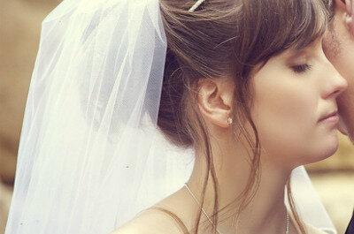 Románticas coronas y diademas para novia 2014
