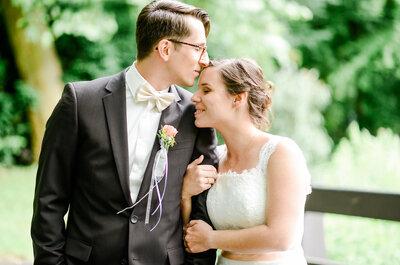 Romantik pur: Sarah & Paul feierten ihre Hochzeit im Gewächshaus