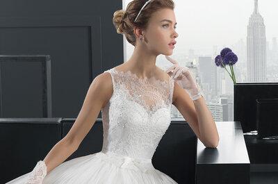 Vestidos de noiva sofisticados e femininos na colecção Two 2015 de Rosa Clará