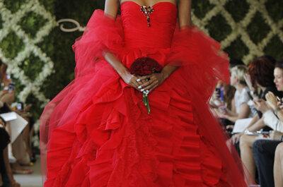 Kolorowe suknie ślubne Oscar de la Renta 2013