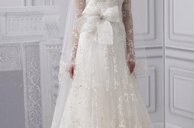 Elige un vestido de novia con mangas ilusión, moda 2013
