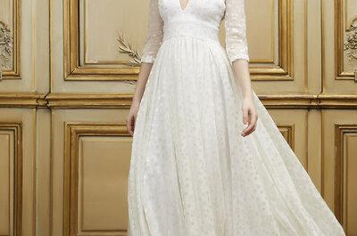 Vestidos de novia 2015: escote imperio para lucir como una diosa