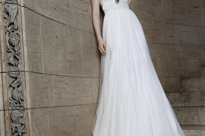 De vuelta la tendencia del vestido de tul para las novias