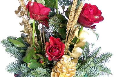 Centro de mesa navideño para tu matrimonio