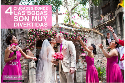 4 ciudades de México donde las bodas son muy divertidas