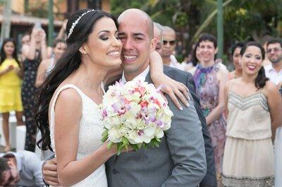 Michele & Antonio Victor: casamento LINDO à beira mar depois de anos de namoro às escondidas!