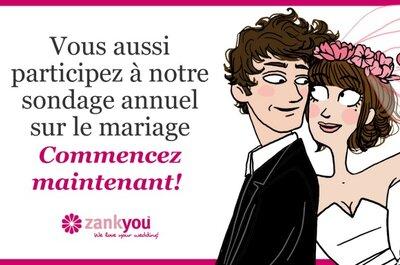 Participez à notre enquête internationale sur les mariages et gagnez un iPad!