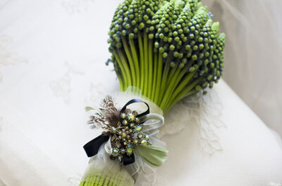 Buquês de noiva naturais, românticos e com um toque rústico