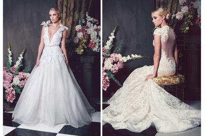 Vestidos de novia 2014 con apliques de flores y siluetas encantadoras