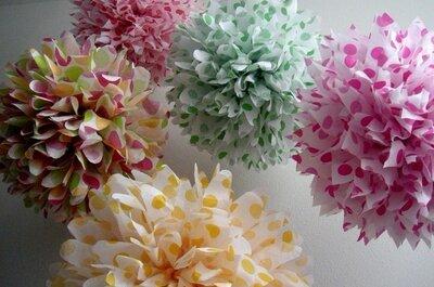 Ein Must-have für Ihre Hochzeit: Dekoration aus Papier!