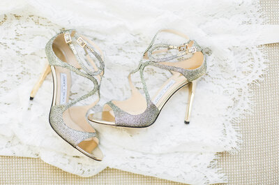Como eleger o sapato de noiva perfeito: 5 chaves para brilharem no grande dia!