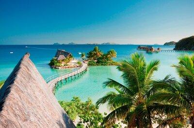 Ilhas Fiji é cenário perfeito de lua de mel: praias com água azul celeste