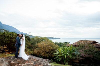 Casamento na praia de Nádia & Vitor: uma pitada de inovação e ousadia em Ilhabela!