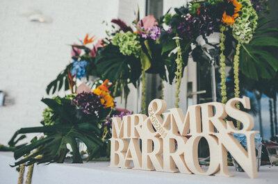 Sara y Rick: una romántica y divertida boda inglesa en Marbella
