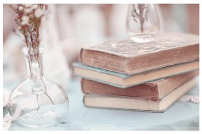 Decoración de boda con libros
