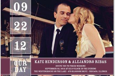 Tendencias en invitaciones de boda 2013