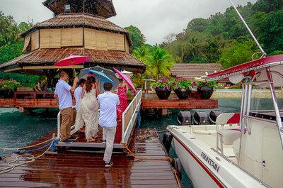Een bruiloft in een echt tropische stijl!