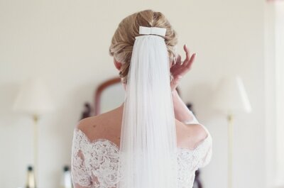 ¿Has elegido velo ya? Elige alguno de estos 5 estilos para tu look de novia