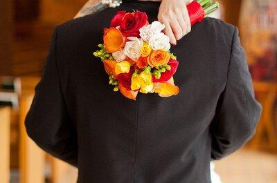 Buquês de noiva cor laranja: alegria para seu look