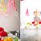 Decoración y centros de mesa con flores en colores neón