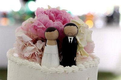 'Cake-toppers': Aprende a hacer tú misma la decoración de la tarta de bodas