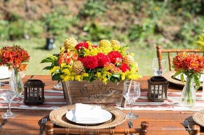 Um casamento alegre e contagiante: saiba combinar vermelho e amarelo na decoração