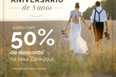 Zankyou comemora 5 anos no Brasil com um presente sensacional para os noivos!