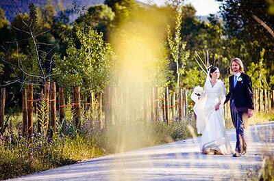 Una romántica boda española en un monasterio